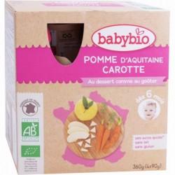 Gourde Pomme Carotte - 4x90 - Babybio