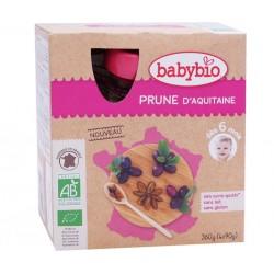 Gourde Prune - 4x90g - Babybio