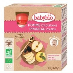 Gourde Pomme Pruneau - 4x90g - Babybio