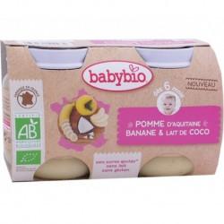Pot Pomme Banane & Lait de Coco - 2x130g - Babybio