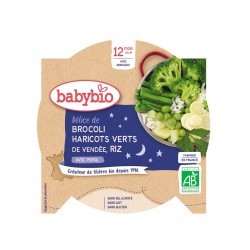 Assiette Brocoli, Haricots verts, Riz - 230g - Babybio