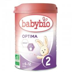 Optima 2 Lait Bio 6 à 12 Mois - 900g - Babybio