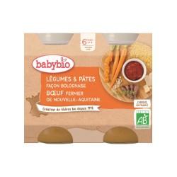 Pot Légumes & Pâtes façon Bolognaise Bœuf - 2x200g - Babybio