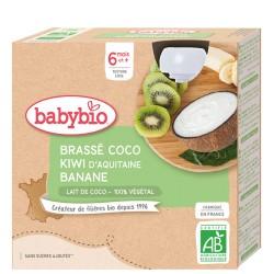 Brassé Lait de Coco Kiwi Banane - 4x85g - Babybio