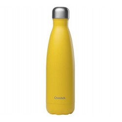 Bouteille Nomade Isotherme - Pop Jaune - 500ml - Qwetch