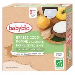Brassé Lait de Coco Pomme Poire - 4x85g - Babybio