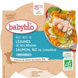Assiette Légumes Saumon Riz - 260g - Babybio
