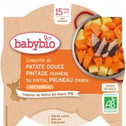Assiette Patate Douce Pintade Pruneau - 260g - Babybio
