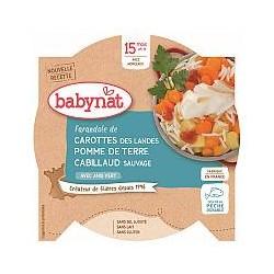 Assiette Carotte Pomme de Terre Cabillaud - 260g - Babybio