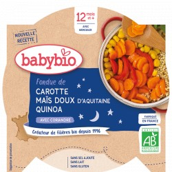 Assiette Carotte Maïs Quinoa - 230g - Babybio