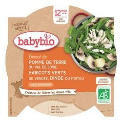 Assiette Pomme de Terre Haricots Dinde - 230g - Babybio