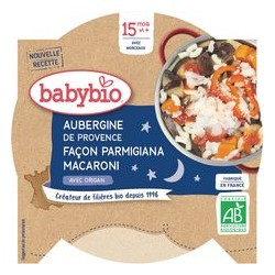 Assiette Aubergine Macaroni - 260g - Babybio