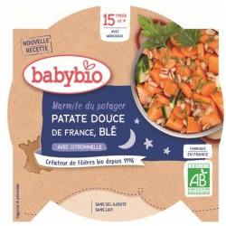 Assiette Patate Douce & Blé - 260g - Babybio