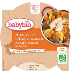 Assiette Patate Douce Chataigne Pintade - 230g - Babybio