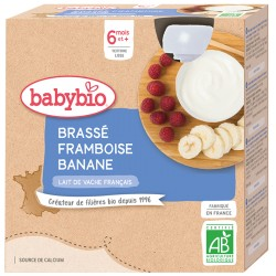 Brassé Framboise Banane - 4x85g - Babybio
