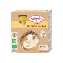 Crème Semoule Vanille - 4x85g - Babybio