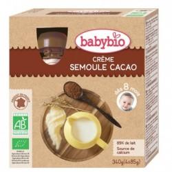 Crème Semoule Cacao - 4x85g - Babybio