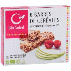 Barres de Céréales Pommes et Framboise x6 - 125g - Biosoleil