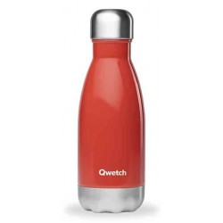 Bouteille Nomade Isotherme - Rouge Brillant - 260ml - Qwetch