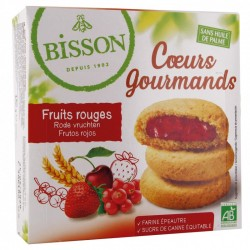 Coeurs Gourmands Fruits Rouges - 180g - Bisson