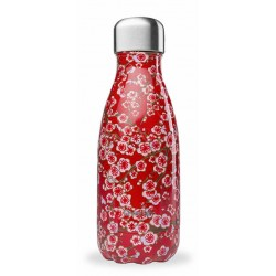 Bouteille Nomade Isotherme - Flowers Rouge - 260ml - Qwetch