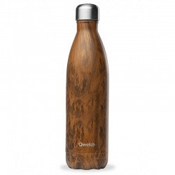Bouteille Nomade Isotherme - Wood Brun - 750ml - Qwetch