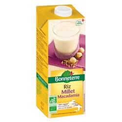 Boisson Riz Millet Macadamia - 1l - Bonneterre