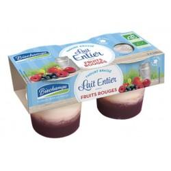 Yaourt Brassé Fruits Rouges -2x125g - Biochamps
