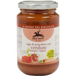 Sauce Tomate aux Légumes 350g-Alce Nero