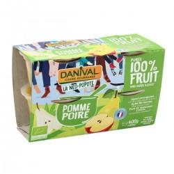 Dessert 100% Fruit Poire - 4x100g - Danival
