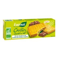 Biscuits Goûter Chocolat Lait - 225g - Evernat