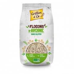 Flocons d'Avoine Sans Gluten - 500g - Grillon d'Or