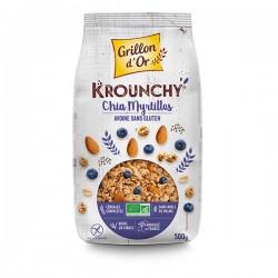 Krounchy Chia Myrtille - 500g - Grillon d'Or
