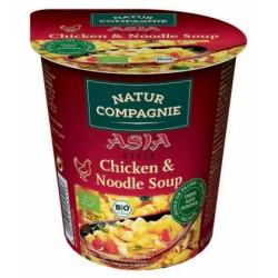 Soupe Asiatique de Poulet aux Pâtes 55g-Natur Compagnie