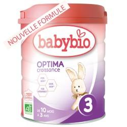 Optima 3 Croissance 10 mois à 3 ans - 800g - Babybio
