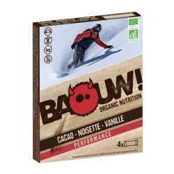 Barre Cacao Noisette Vanille - 4x30g - Baouw Organic Nutrition
