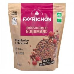 Muesli Croustillant Framboise Choco - 500g - Favrichon