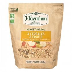 Muesli 4 Céréales 8 Fruits - 500g - Favrichon