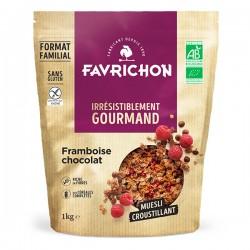 Muesli Croustillant Framboise Chocolat - 1kg - Favrichon