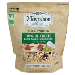 Muesli Tradition 30% de Fruits - 500g - Favrichon