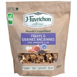 Muesli Fruits et Graines Anciennes - 450g - Favrichon