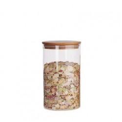 Bocal en Verre Couvercle Bois - 800 ml - Ah Table