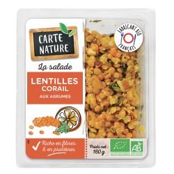 Lentille corail Carte nature