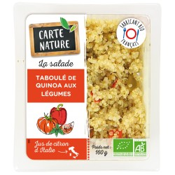 Taboule quinoa petits legumes carte nature