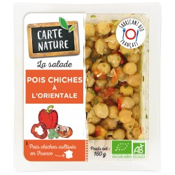 Salade orientale pois chiches carte nature