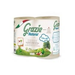 4 rouleaux de Papier Toilette Grazie Natural - Lucart