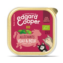 Cat Cup Veau & Boeuf Bio - 85g - Edgard Cooper