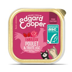 Chaton Cup Poulet & Truite - 85g - Edgard Cooper