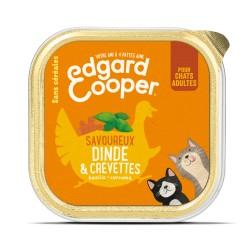 Cat Cup Dinde & Crevettes - 85g - Edgard Cooper