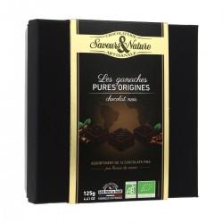 Les Ganaches Chocolat Noir - 16 Chocolats Fins 125 g - Saveurs & Nature